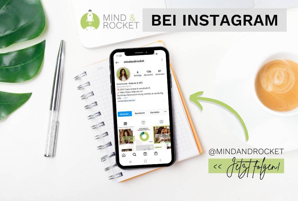 SEO Tipps bei Instagram von Mind & Rocket